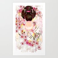 japanese Art Prints featuring Japanese by Felicia Atanasiu