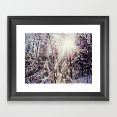 winter hike Framed Art Print