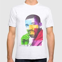 Drake Hotline  Mens Fitted Tee Ash Grey SMALL