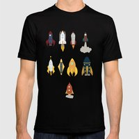 Rockets Mens Fitted Tee Black SMALL