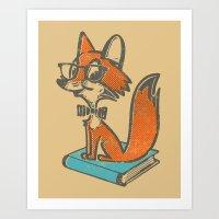 Fox Librarian - A Well R… Art Print