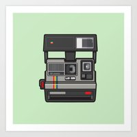 #43 Polaroid Camera Art Print