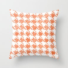 Watercolor Houndstooth Throw Pillow