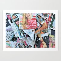 magazines Art Print