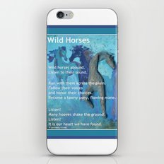 Wild Horses: Poem and Painting iPhone & iPod Skin