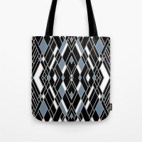 Art Deco Zoom Blue Tote Bag