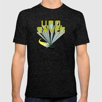 Ufo Saves Mens Fitted Tee Tri-Black SMALL