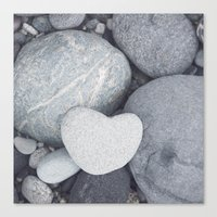 Heart Shaped Rock Canvas Print