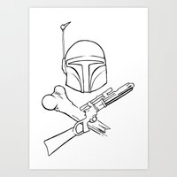 Fett and Crossbones Art Print