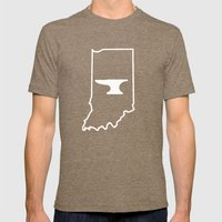 Indiana Blacksmiths Mens Fitted Tee Tri-Coffee SMALL