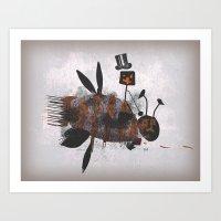 Bee Fighter Art Print