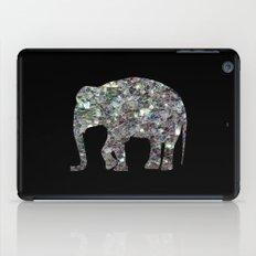 Sparkly colourful silver mosaic Elephant iPad Case
