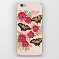 Swallowtail Florals by Andrea Lauren  iPhone & iPod Skin