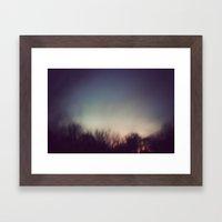 A Blur Framed Art Print