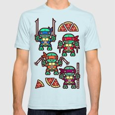 Teenage Mutant Ninja Tur… Mens Fitted Tee Light Blue SMALL