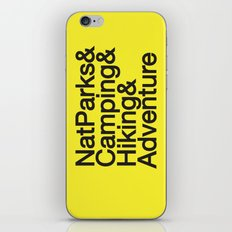 National Parks & Hiking & Camping & Adventure iPhone & iPod Skin