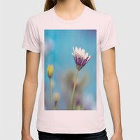Blue Womens Fitted Tee Light Pink SMALL