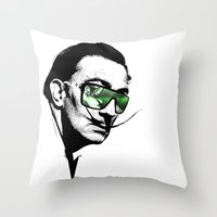 Dalì, what are you watching? Throw Pillow