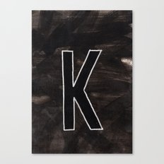 - K - Canvas Print