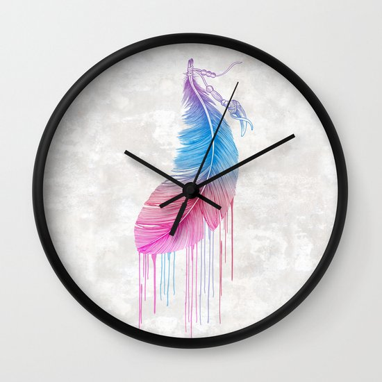 Colors of a Feather Wall Clock