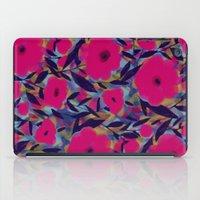 Layered Leaf Floral Fuchsia iPad Case