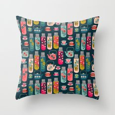 Vintage Thermos - Teacups and Teapots by Andrea Lauren Throw Pillow