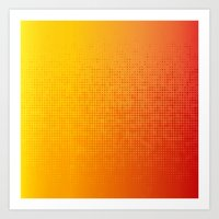 Yellorange Dots Art Print