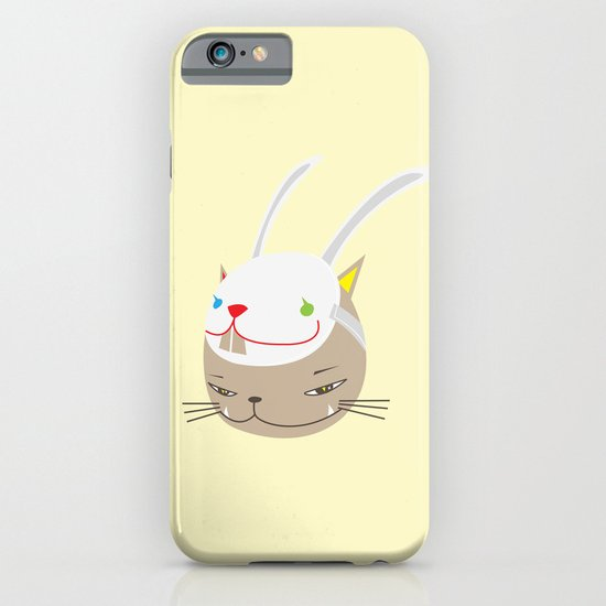 CAT WITH RABBITZ MASK iPhone & iPod Case
