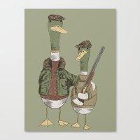 Hunting Ducks Canvas Print
