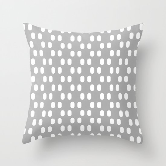 Aelbrecht Grey Pattern Throw Pillow