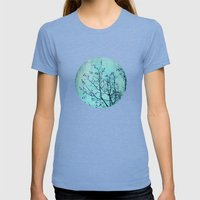 pink berries Womens Fitted Tee Tri-Blue SMALL