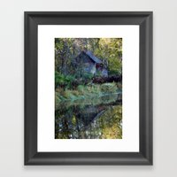 River Shed Framed Art Print