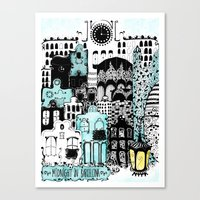 Midnight in Barcelona Canvas Print