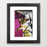 Cat Flips Through Magazine Framed Art Print