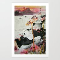 Romantic Evening Art Print