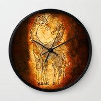 Henna Giraffe Wall Clock