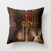 Move To The City Throw Pillow