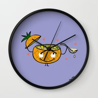 Pineapple Curry Wall Clock