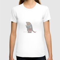 Dr Beaver Womens Fitted Tee White SMALL