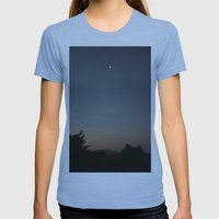 moon Womens Fitted Tee Athletic Blue SMALL