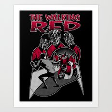 The Walking Red Art Print