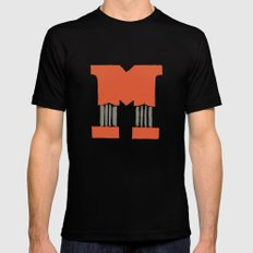 M Lettering Black Mens Fitted Tee SMALL