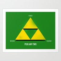 Project Triforce Art Print