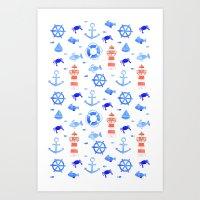 Marin pattern Art Print