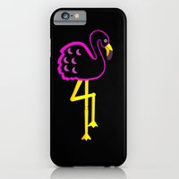Flamingo at Night  iPhone 6 Slim Case