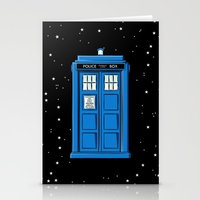 TARDIS In Space Stationery Cards