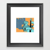 Folk Double Bass Framed Art Print