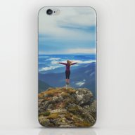 iPhone & iPod Skin featuring Young Woman  On A Stone … by Marozn