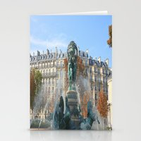 Paris Fountain Stationery Cards