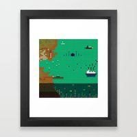 A Coded Message #3 Framed Art Print
